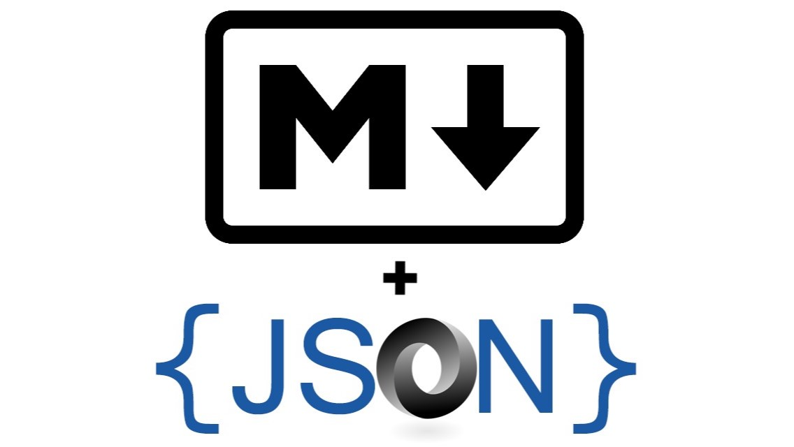 Markdown Logo and JSON logo for ASP.NET blog post